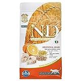 Farmina Pet Food Natural and Delicious Low-Grain Formula Dry Cat Food-Wild Cod-3.3