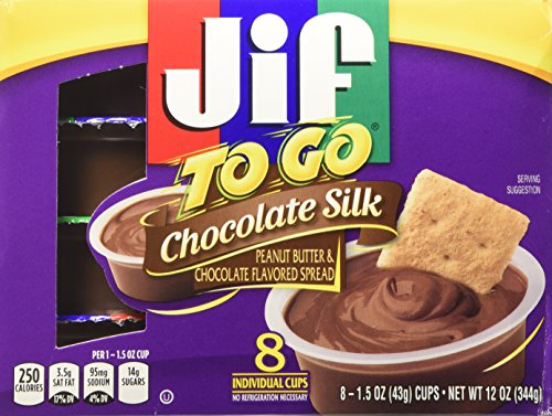 Jif to Go Chocolate Silk Peanut Butter & Chocolate Flavored Spread 8-1.5 Oz. Cups (Pack of 3) (Jif Chocolate Peanut Butter compare prices)