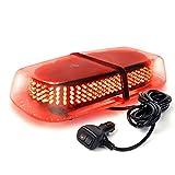 Xprite Red 240 LED Law Enforcement Emergency Hazard Warning LED Mini Bar Strobe Light with Magnetic Base