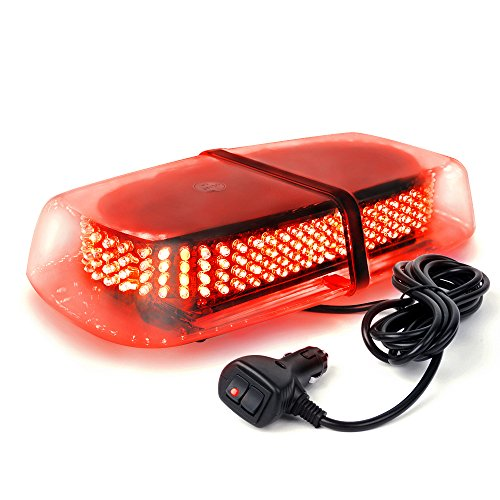 Xprite Red 240 LED Law Enforcement Emergency Hazard Warning LED Mini Bar Strobe Light with Magnetic Base