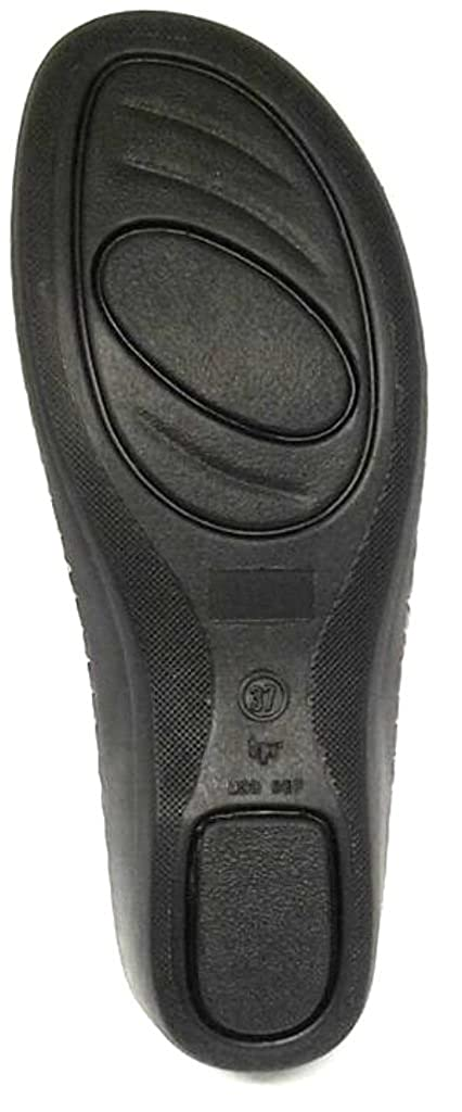 La coccinella Scalzati, Ciabatte Art.14106 Aperte Donna Linea Confort Art.14106 Ciabatte Velcro Pelle Blu - ddb09c