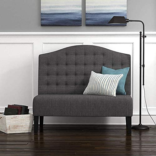 Amazon Brand Ravenna Home Rai Tufted Arched Armless Loveseat Bench Settee