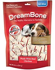 DreamBone Mini Chews With Real Chicken 50 Count, Rawhide-Free Chews For Dogs, Multicolor, Model Number: DBC-00593