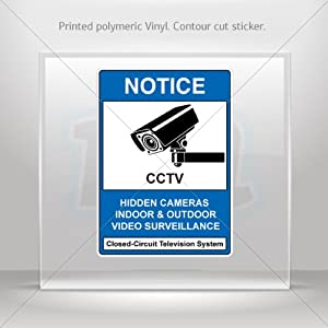 Decals Decal Hidden Cameras, Indoor/Outdoor Video Surveillance Atv Weatherproof Racing X4X39