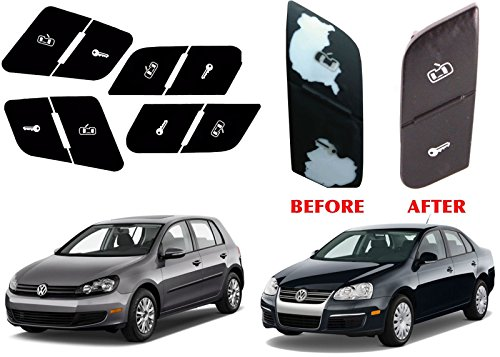 Replacement Door Lock Button Stickers For 2006-2010 VW Volkswagen Jetta Passat Golf (Vw Jetta Door Volkswagen)