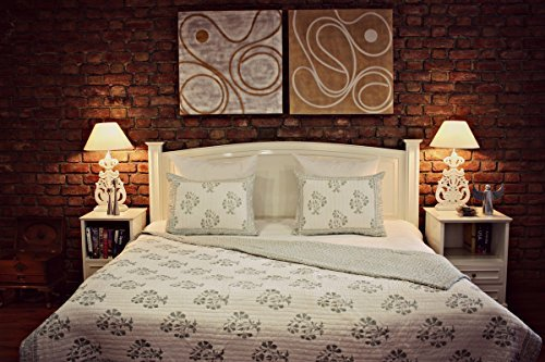 The Home Studio Cotton Quilt - Twin, Spa