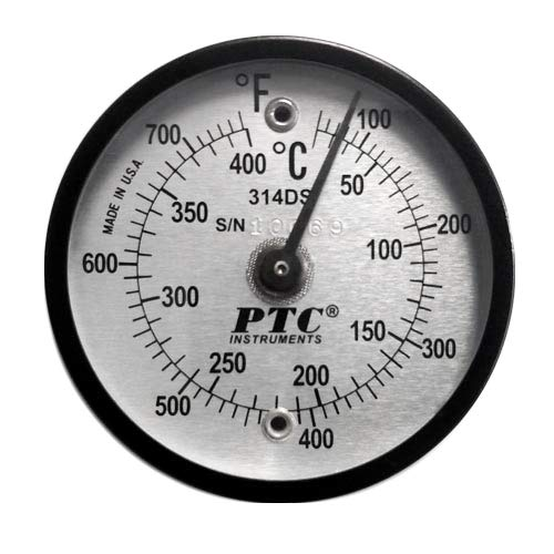 PTC 314DS Dual Scale Surface Thermometer 50° to 750°F & 10° to 400°C by PTC