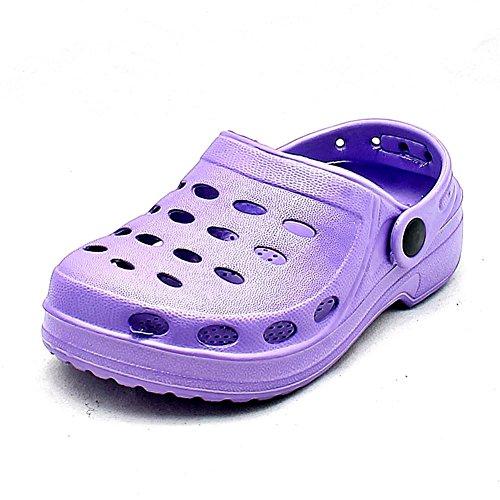 SendIt4me Helle Farbige Gummi-Clog-Stil Strand Schuhe/Sandalen Kinder Purple