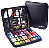 #1: Sewing Kit with XL Size PU Case and Over 100 Accessories,30 XL PVC Thread Spools, Advanced Version Sewing Supplies for Adults,Kids,Travel,Camping,Home,by Nestron