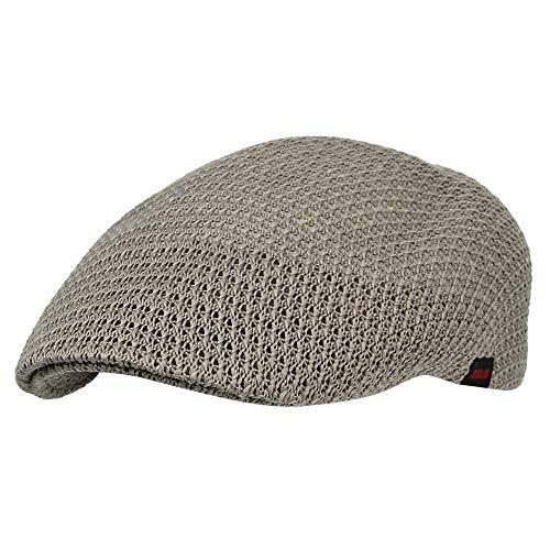 WITHMOONS Ivy Cap Summer Mesh Newsboy Irish Gatsby Golf Hats AM31168 (Brown)
