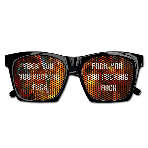 Fuck You You Fucking FuckWedding Party Colored Decal Aviator Style Sunglasses - You Fuck Sunglasses