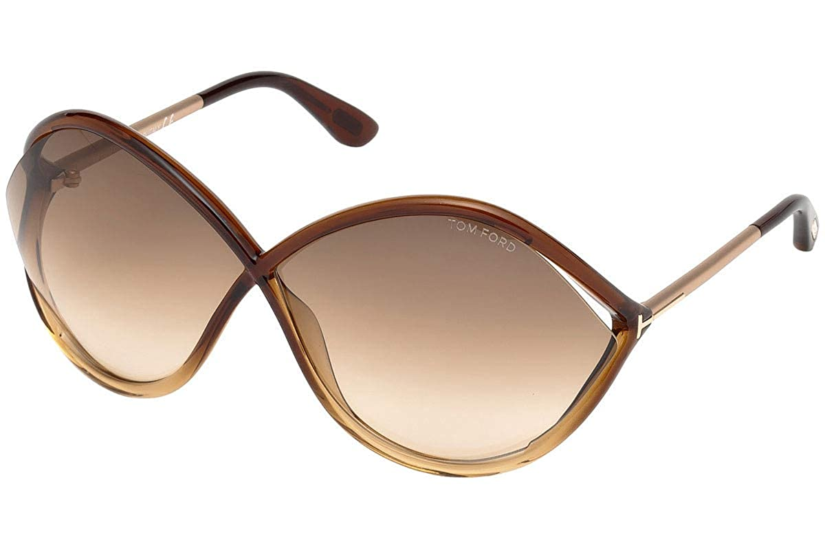 5f882cffe2 Amazon.com  Tom Ford FT0528 Liora Sunglasses Brown w Brown Gradient Lens  50F TF528 FT528 FT 528 TF 528  Clothing