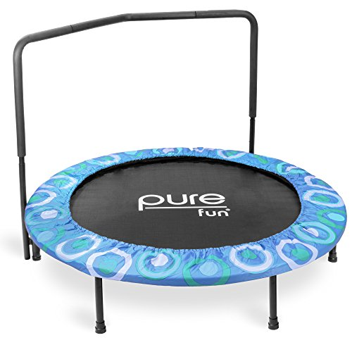Pure Fun 9008SJ Super Jumper Kids Trampoline with Handrail, Blue - 48 Inches