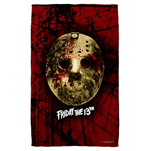 Friday The 13th Jason Voorhees Slasher Movie Bloody Mask Golf Towel by 2Bhip