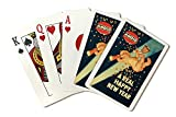 Amoco - A Real Happy New Year - (artist: Leyendecker, Joseph C. c. 1946) - Vintage Advertisement (Playing Card Deck - 52 Card Poker Size with Jokers)