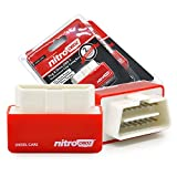 NitroOBD2 Chip Tuning Box Nitro OBD2 Performance Plug and Drive OBD2 Chip Tuning Works For Diesel Cars (red)