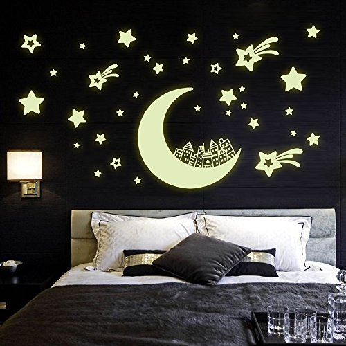 Judek Bedroom Glow in the Dark Full Moon