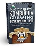 The Complete Kombucha Brewing Starter Kit: Live Kombucha ORGANIC SCOBY- Fermented Starter Tea - Glass Brew Jar - Sugar & Tea - Instructions & Recipes + More!