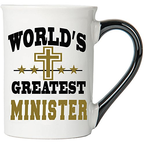 Cottage Creek Ordained Minister Large 18 Ounce Ceramic World's Greatest Minister Coffee Mug/Minister Gifts Inspirational Gifts
