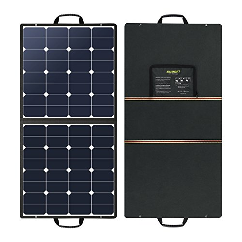Suaoki 100W 18V 12V Solar Panel Charger SunPower Cell Portable Foldable with Dual Output (5V/2A USB + 18V/5A DC), 10 Laptop Connectors for Smartphones, Laptops, Car Batteries, Generator, Power Source by SUAOKI (Image #7)