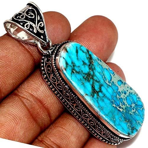 Handmade Variscite Jasper Gemstone 925 Sterling Silver Pendant - Jasper Variscite
