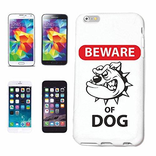 """cas de téléphone iPhone 7 """"PRENEZ GARDE DU CHIEN bulldog CHIENS PRISON CHIENS KENNEL ÉLEVEURS PUPPY FORMATION CARE"""" Hard Case Cover Téléphone Covers Smart Cover pour Apple iPhone en blanc"""