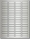 """1/2"""" x 1 3/4"""" Inkjet Silver Foil Return Address Labels - 10 Sheets / 800 Labels"""