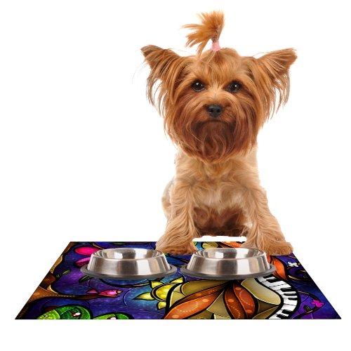 Kess InHouse Mandie Manzano Tell Me Stories  Feeding Mat for Pet Bowl, 18 by 13-Inch