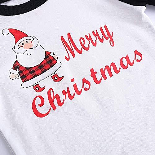 Famiglia Abbigliamento Natalizio Buon Santa figlio La Per Genitore Plaid Pigiama 2 Natale Di Bianco Pantaloni Alikeey Coordinati Capretto 8nqEZ1Yw