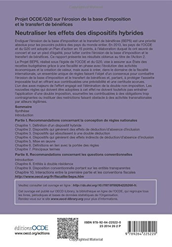 Projet Ocde/G20 sur l'érosion de la base d'imposition et le transfert de bénéfices Neutraliser les effets des dispositifs hybrides (French Edition)