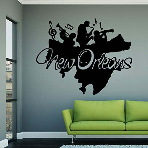 New Orleans band personality bedroom living room Art Deco removable wall stickers Christmas Halloween decorations-YU&XIN]()
