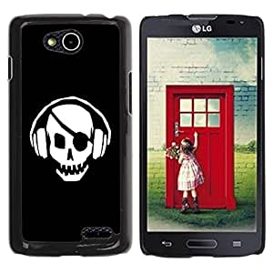 Paccase / SLIM PC / Aliminium Casa Carcasa Funda Case Cover para - Skull Pirate Beat - LG OPTIMUS L90 / D415