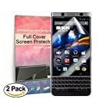 (US) Blackberry Keyone full Coverage Screen Protector Anti-Bubble [2 Pack],Rapidest HD Ultra Clear TPU Film Curved Edge to Edge Screen Protector for Blackberry Keyone