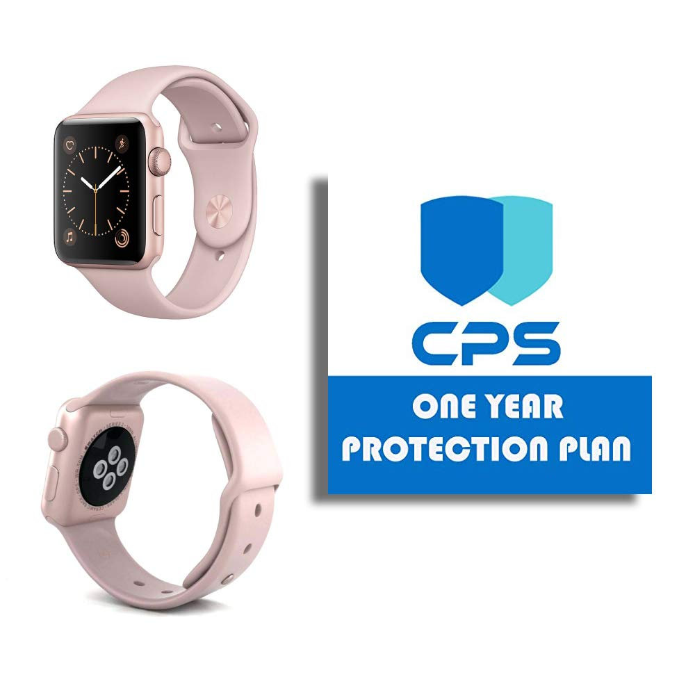 e68c28dc4 Amazon.com: Apple Watch Series 2 Smartwatch Bundle - $99 Value (Bundle  Includes: 1 Year/CPS Warranty) (Refurbished) (Rose Gold (Aluminum) Pink  Sport Band, ...