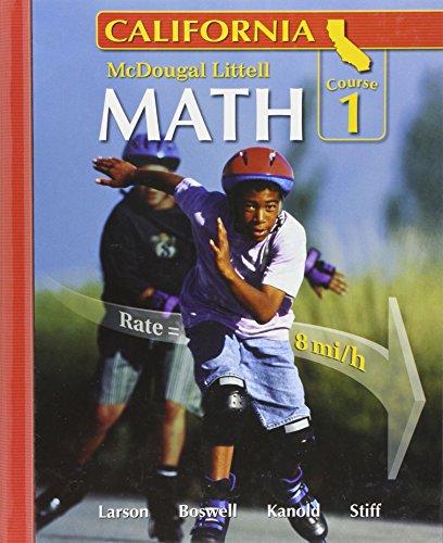 California: Math Course 1