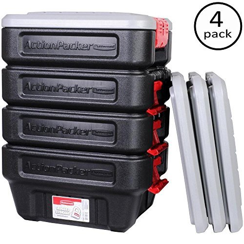 Rubbermaid 8-Gal. Action Packer Storage Tote (4-Pack)