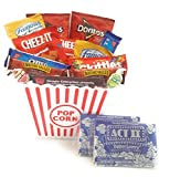 Movie Night Gift Basket Ultimate Care Package with lots of Premium Popcorn and Snacks in a Cool Nostalgic Reusable Plastic Bucket