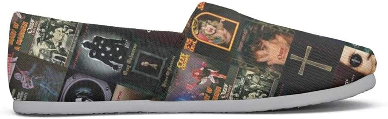 FALBAL Ozzy Osbourne Albums Gather Young Women Walking Shoes for Womens Lace Ups Shock Absorption