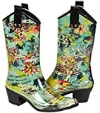 Bops Womens CowGirl Rubber Rainboots