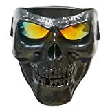 Vhccirt Motorcycle Racing Protective Mask With Polarized Goggles Skiing Goggles Mask Halloween Cos Skull Mask