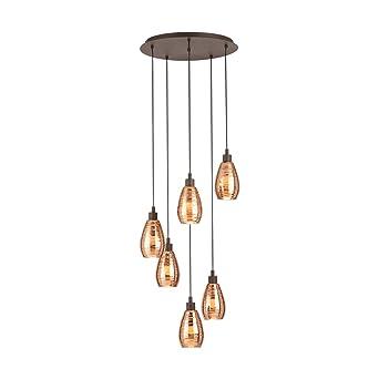 Eglo SiracUSA - Lámpara de techo (6 bombillas E27), color ...