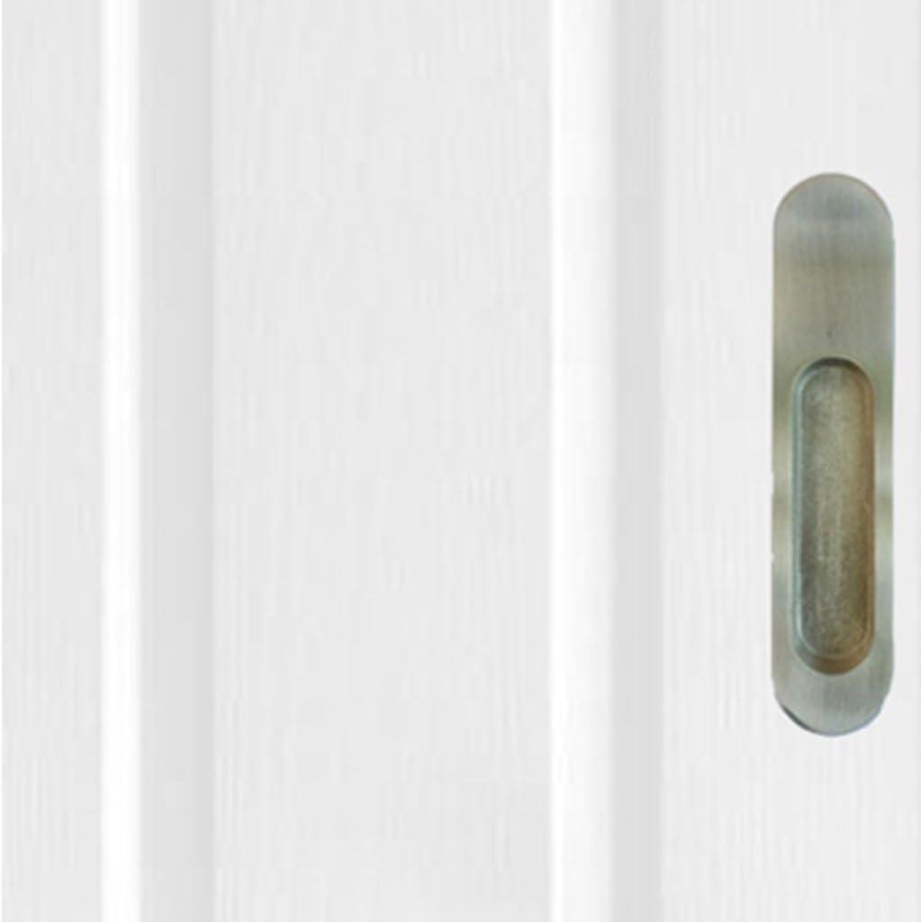 WangQ Manija de Puerta corredera empotrada Manija de Puerta corredera Invisible con Incrustaciones de Estilo Europeo Balcón Ducha Puerta de baño Manija Oculta cepillada Verde Bronce Negro manijas: Amazon.es: Hogar