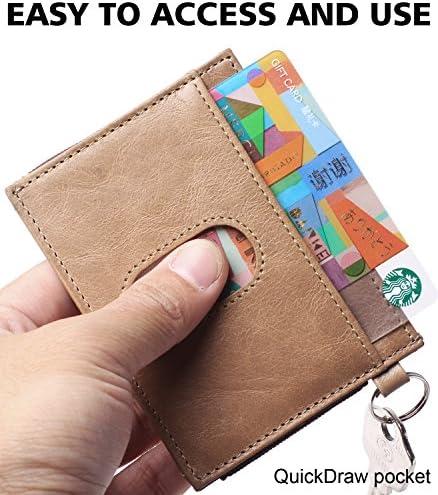 Kozak flowers small brown wallet Slim Wallet Minimalist Leather Wallet Front Pocket wallet Student Travel Gift Credit card holder