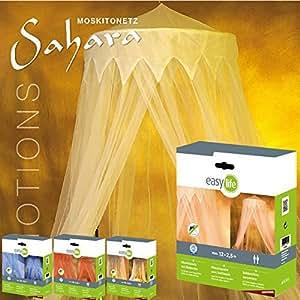 Mosquitera de cama dosel Emotions de easy life 12,5 x 2,5 m - Dosel mosquitera 5 diferentes motivos decorativos, Motiv:Sahara