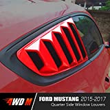 Automotive : Matte Black GT 5 Vents Style Quarter Side Window Scoop Louvers for Ford Mustang 2015 2016 2017