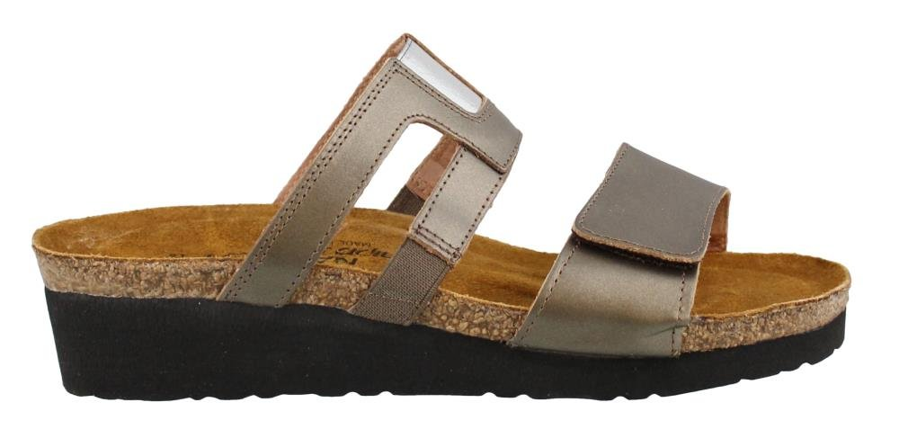 NAOT Women's, Nancy Slide Sandals Pewter Graphic 3.6 M