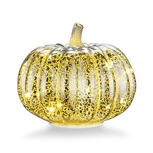 Mercury Glass Home Decor Pumpkin, XY Decor 5.5