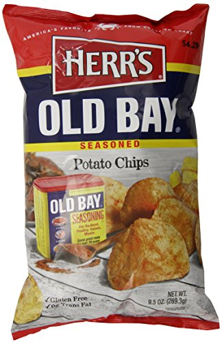Herr's Old Bay Potato Chips, 9 Ounce
