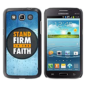 Paccase / SLIM PC / Aliminium Casa Carcasa Funda Case Cover para - BIBLE Stand Firm In The Faith - Samsung Galaxy Win I8550 I8552 Grand Quattro