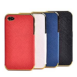 Buy Simple Style Purity Electroplate Algam Back Case for iPhone 4/4S(Assorted Color) , Black